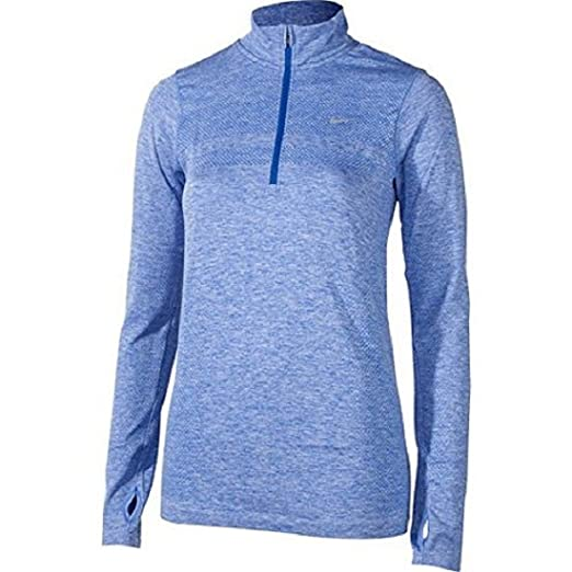 51019bde0427a7 Nike Dri-Fit Knit Half Zip Womens Long Sleeve Running Top at Amazon Women's  Clothing store: