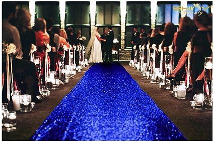 Shinybeauty 4ftx30ft Aisle Runners For Weddings Sparkling Royal Blue Aisle Runner Decoration Of Beach Church Wedding