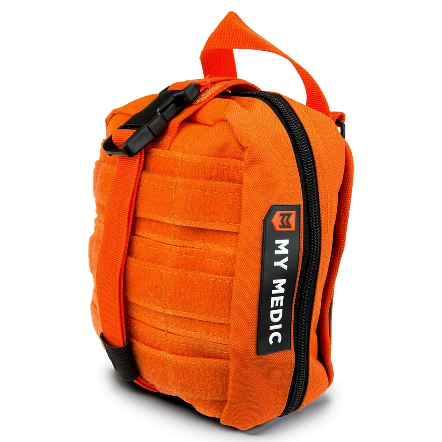 My Medic MyFak First Aid Kit - Water Resistant Bag, Bandages, Burn Aids, CPR Shield, Survival First Aid Kit, Airway, Tourniquet, Stainless Steel Instruments - Advanced - Orange by My Medic