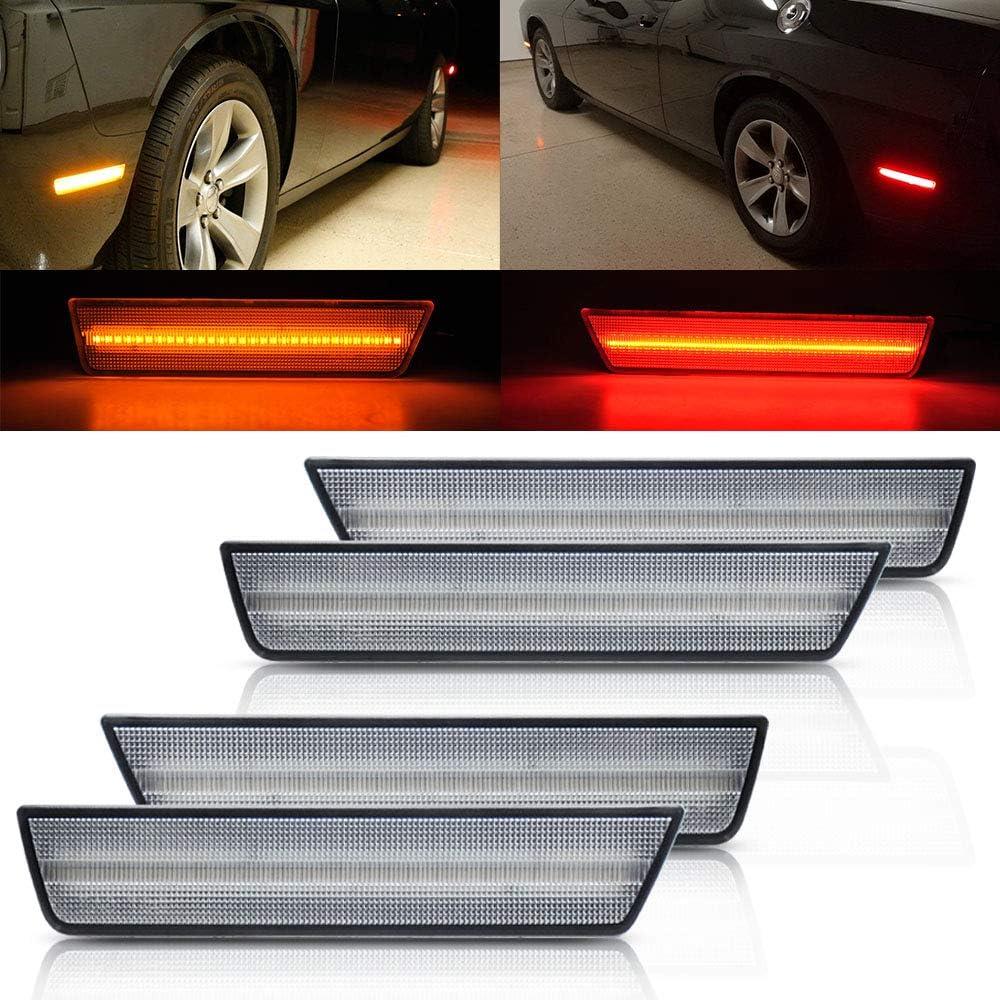 -Black 6 inch 2014 Dodge CHALLENGER Post mount spotlight Passenger side WITH install kit LED