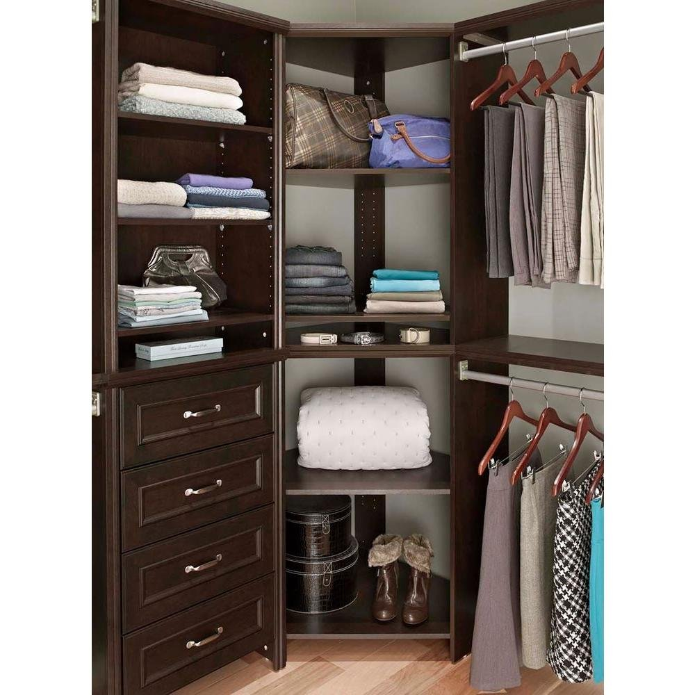 Amazon.com: ClosetMaid Impressions 41.1 In. Easy To Install Chocolate  Corner Unit: Kitchen U0026 Dining