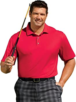 Reebok Big and Tall Golf Play Dry Solid Polo: Amazon.es: Deportes ...