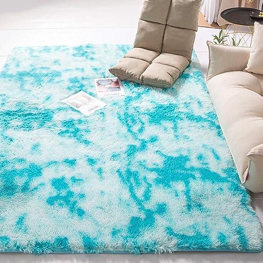 moderna alfombra de pelo de seda teñida con corbata de estar, sala ...