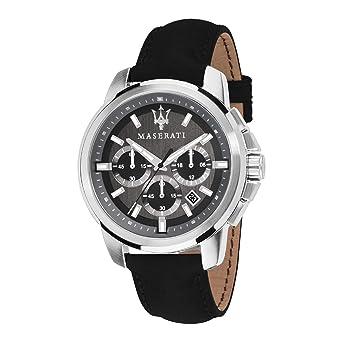 MASERATI Reloj Cronógrafo para Hombre de Cuarzo con Correa en Cuero R8871621006: Amazon.es: Relojes