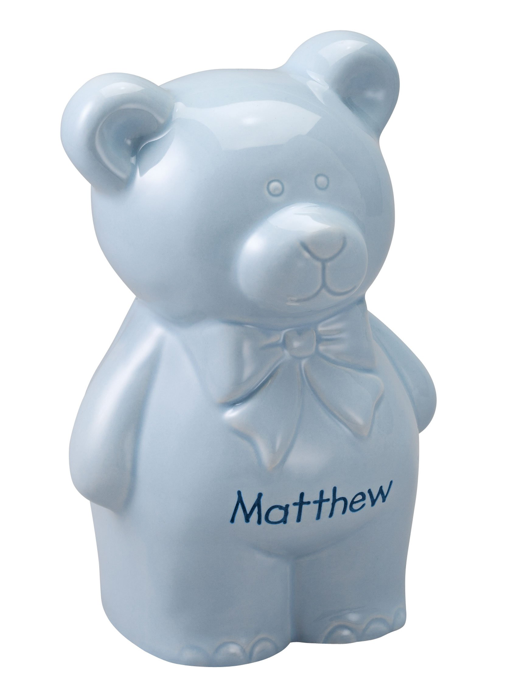 Personalized Teddy Bear Bank by Miles Kimball