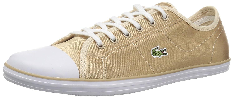 Lacoste Women's Ziane Sneakers B072N4BGYZ 5.5 B(M) US Gold/White Textile