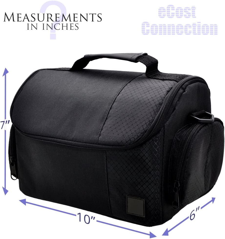 Sony Samsung Large Digital Camcorder//Video Padded Carrying Bag//Case For Canon Panasonic /& JVC Microfiber Cloth
