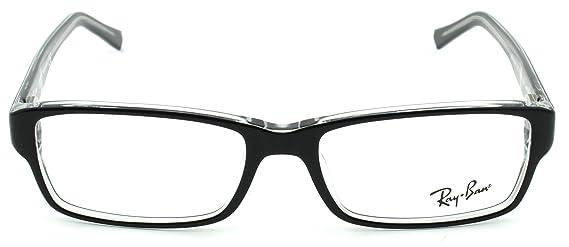 e88afce0f0bdd Amazon.com  Ray-Ban RX5169 Square Unisex Eyeglasses (Black w Transparent  2034
