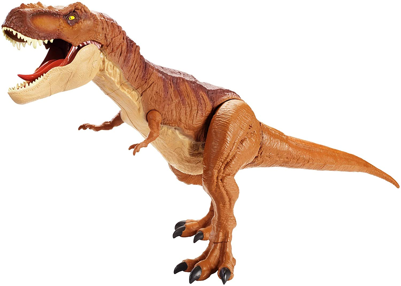 Mattel FMM63 - Jurassic World Riesendino Tyrannosaurus Rex, riesiger T-Rex Dinosaurier, ca. 90 cm