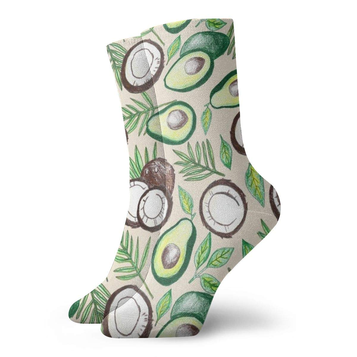 Coconuts /& Avocados Unisex Funny Casual Crew Socks Athletic Socks For Boys Girls Kids Teenagers