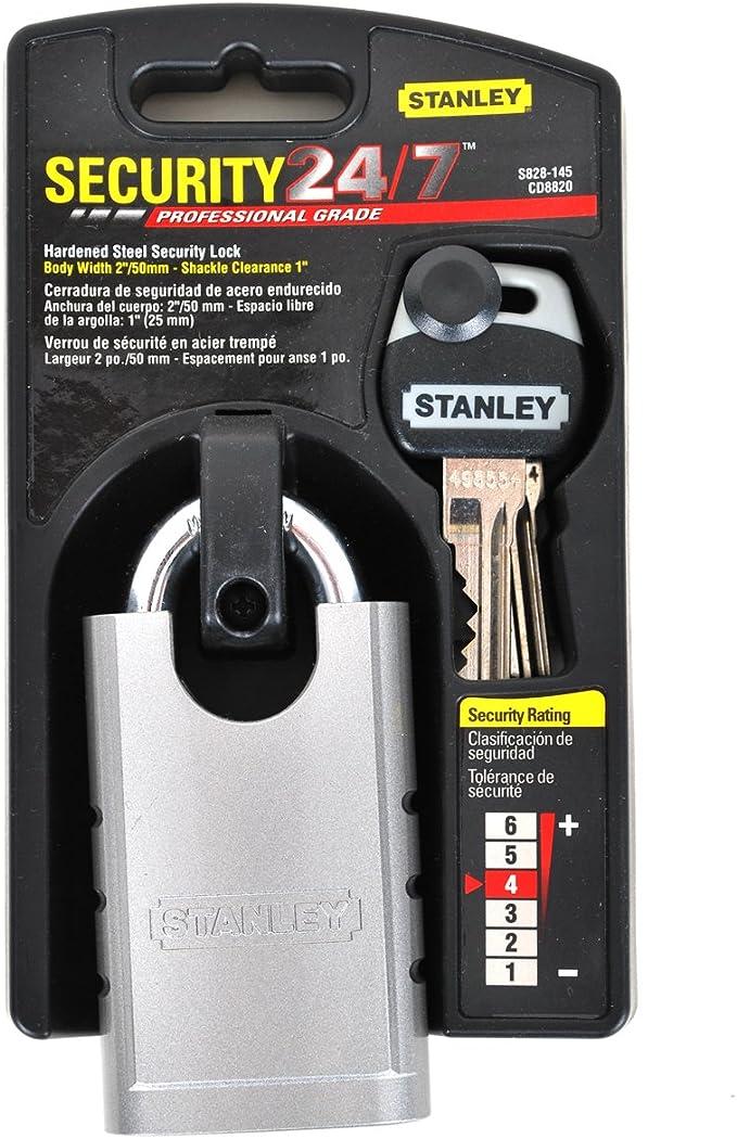 Stanley Hardware S828-145 CD8820 Shrouded Hardened Steel Padlock - Padlocks - Amazon.com
