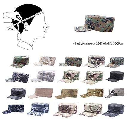 12e92c01 Unisex Fitted Army Military Cadet Hat Ripstop Camouflage Ballcap Flat Top  Cap at Amazon Men's Clothing store: