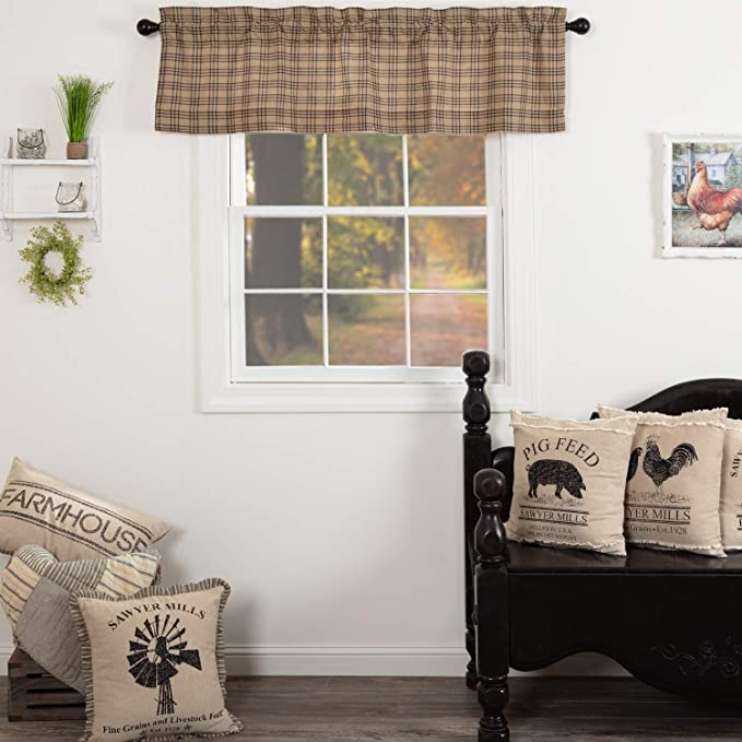 """Sawyer Mill Country Curtain Drapes Prairie Panel Set 3 Colors VHC Farmhouse 84/""""L"""