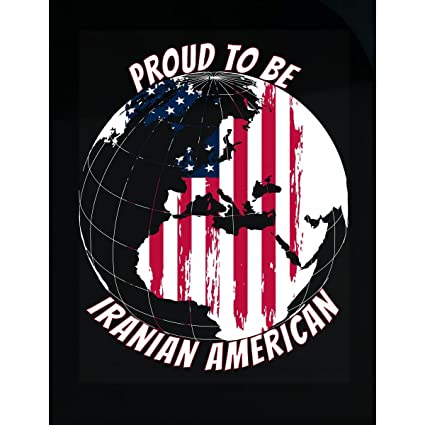 Amazon proud to be iranian american on world map with american proud to be iranian american on world map with american flag sticker gumiabroncs Images