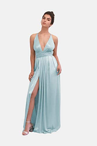 ecbbcc6324 Amazon.com: Maxi Long Dress for Bridesmaid, Wedding or Prom ...