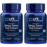 Life Extension Mega Green Tea Extract (98% Polyphenols) Decaffeinated, 100 Vegetarian Capsules - 2 Pack