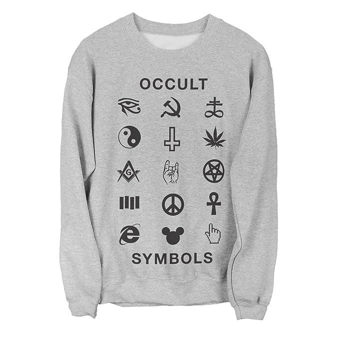 Killer Condo Tumblr Sweater Occult Symbols Unisex Sweatshirt Amazon