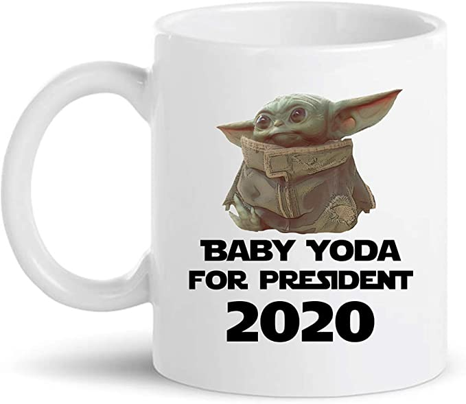 PRESIDENT 2020 - Coffee Mug Gift for Family, Friend, Coworker (White, 11 oz - MADE EXCLUSIVELY FOR WOODLANDS GOODS)