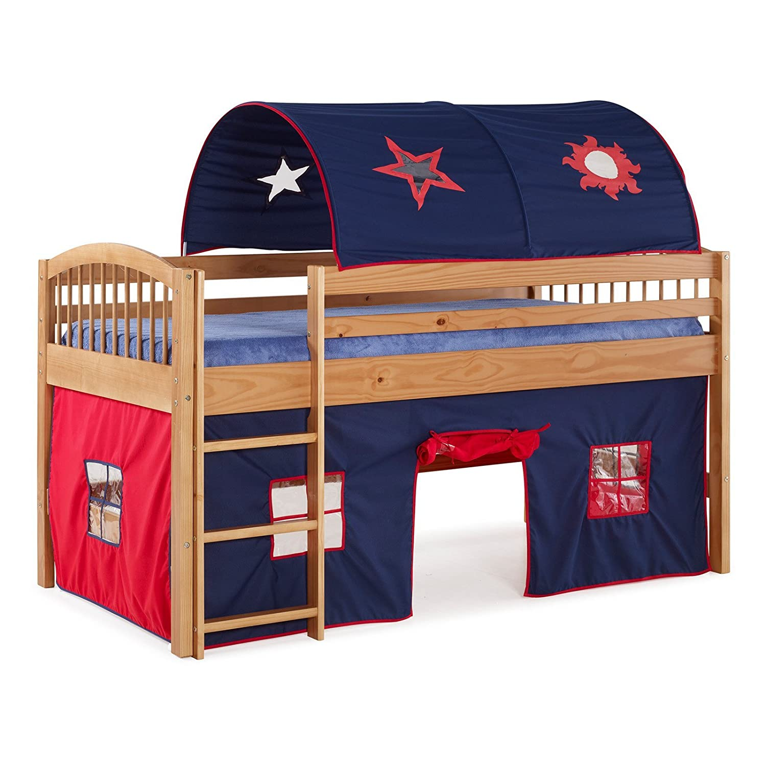 Amazon.com Alaterre Addison Junior Loft Bed with Tent and Playhouse Kitchen u0026 Dining  sc 1 st  Amazon.com & Amazon.com: Alaterre Addison Junior Loft Bed with Tent and ...
