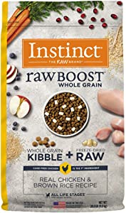 Instinct Raw Boost Whole Grain Dry Dog Food, Natural Kibble with Omegas + Freeze Dried Raw Dog Food