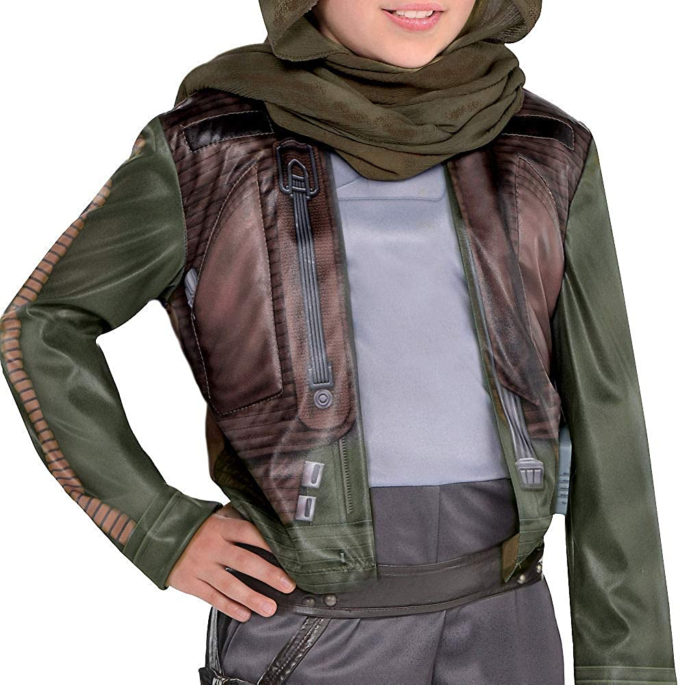 A Star Wars Story Jyn Erso Costume for Girls Costumes USA Rogue One Includes a Jumpsuit and a Headwrap