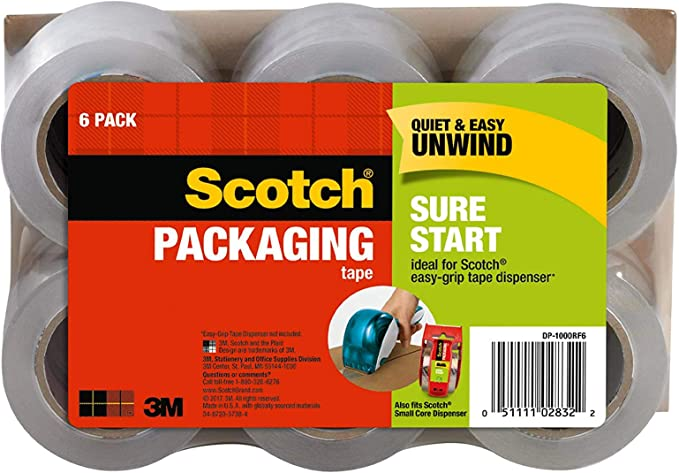 for sale online Scotch 1.88 inch x 22.7 yds Packaging Tape with Dispenser 142L Clear