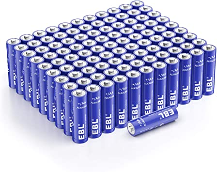 Amazon Com Ebl Aa Batteries 1 5 Volt Double A Alkaline Batteries For Household And Business Pack Of 100 Electronics