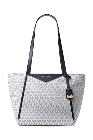 bc8387fc5a77 Amazon.com  Michael Kors Signature Whitney Tote OPTIC NAVY  Shoes