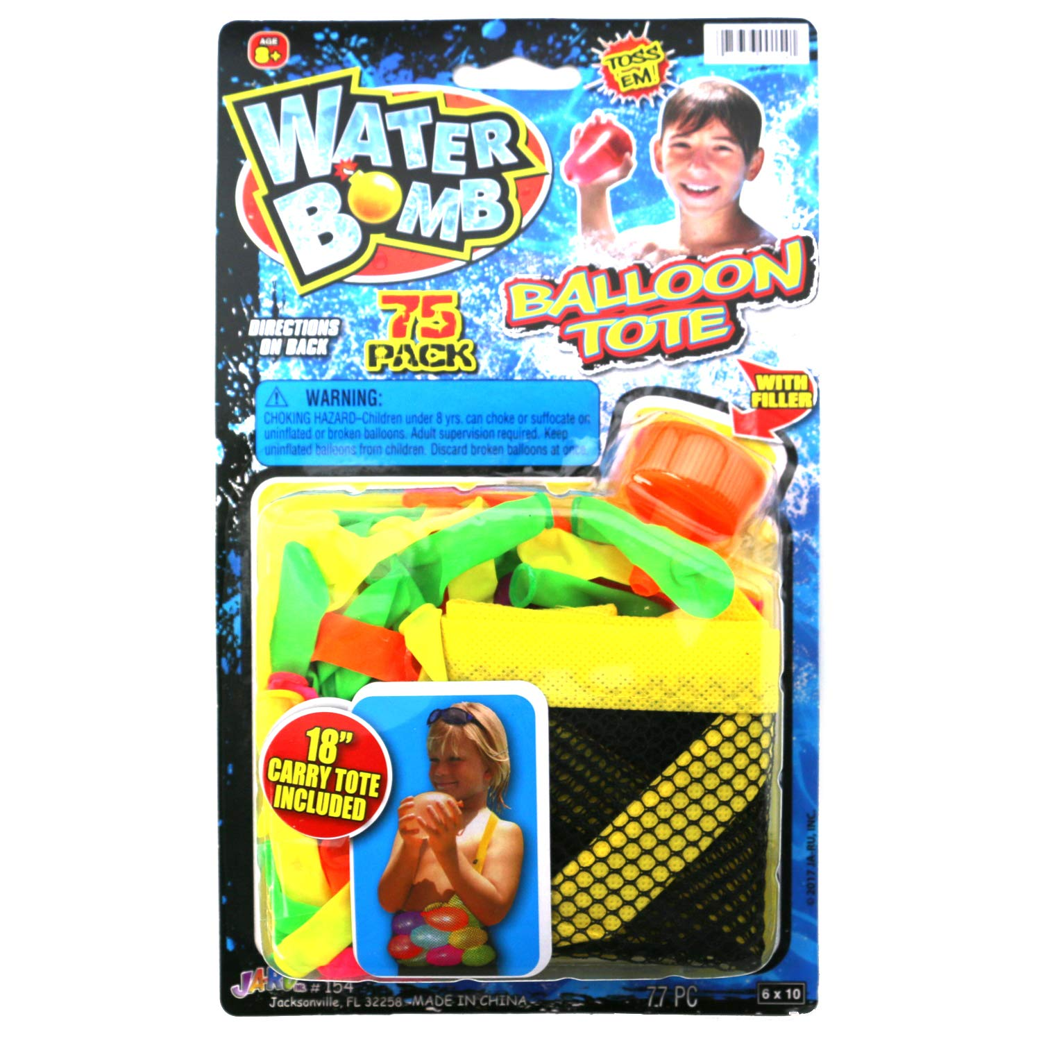 Ultimate 10 Piece Water Balloon Set 855 Water Balloons, Slinger, Carry Tote, Refill Gun, Water Balloon laucher Slingshot Water Balloon Party with 2 GosuToys Stickers by Gosu Toys (Image #4)