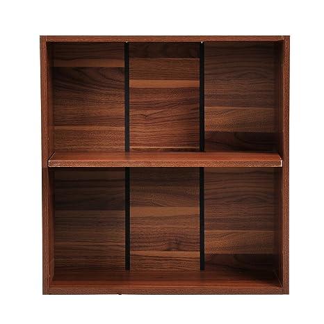 HomCom Mueble Archivo Estanteria Madera Marrón 60x24x63cm