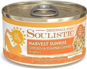 Soulistic Originals Harvest Sunrise Chicken & Pumpkin Dinner in Gravy Wet Cat Food, 3 oz., Case of 12, 12 X 3 OZ