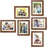Painting Mantra Decorative Premium Synthetic Individual Photo Frame (57.5 cm x 85 cm x 2 cm, Brown, Set of 6)