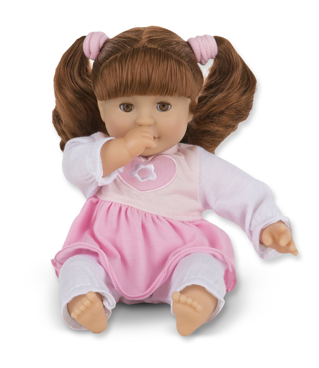 Melissa & Doug standard Mine to Love Brianna 12-Inch Soft Body Baby Doll with Hair and Outfit 4883