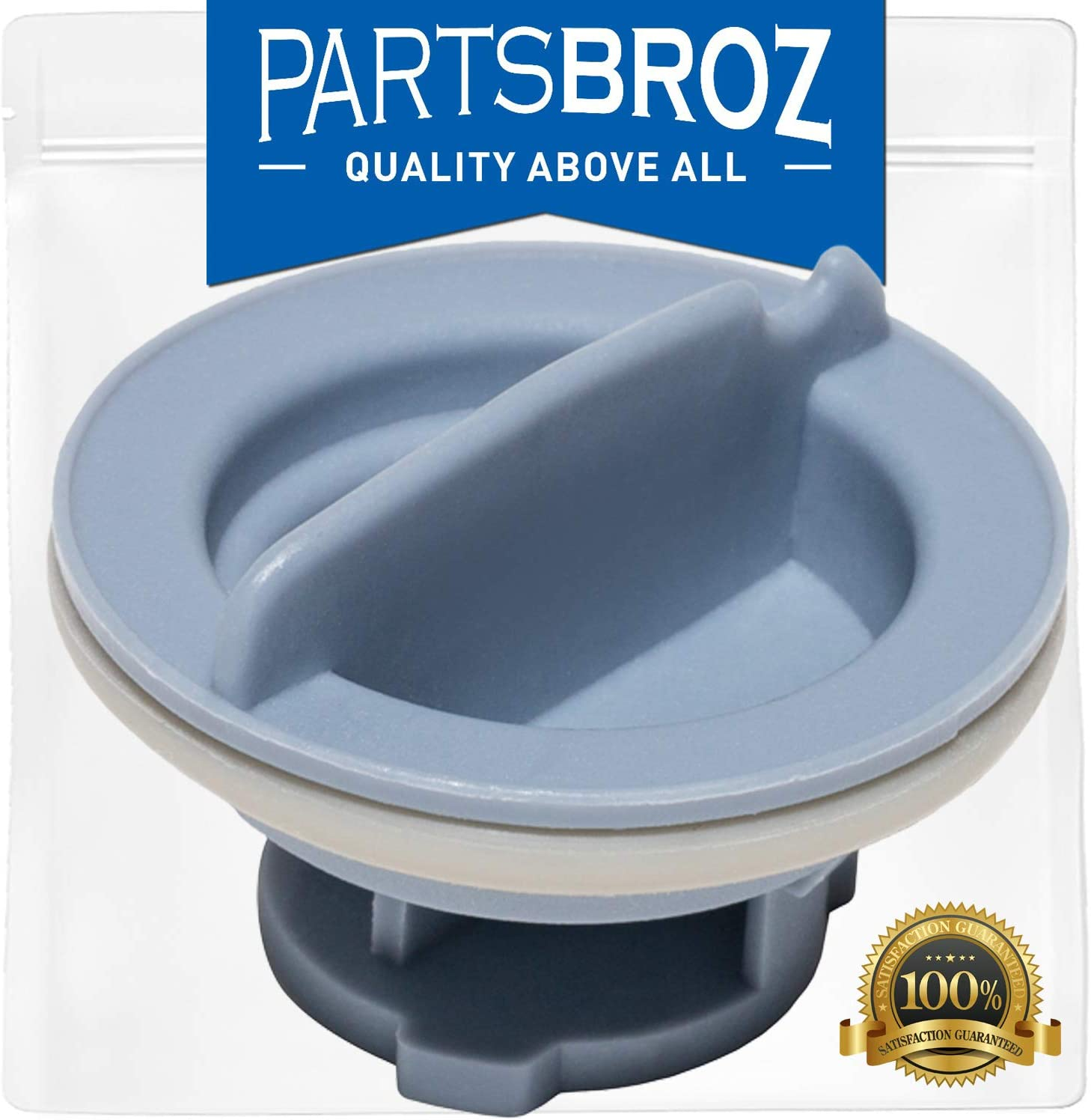 8558307 Dispenser Cap for Whirlpool Dishwasher by PartsBroz - Replaces Part Numbers WP8558307, AP6013204, 8193984, 8539095, 8558310, PS11746426, WP8558307VP