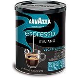 Lavazza Espresso Decaffeinato Ground Coffee Blend, Decaffeinated Medium Roast, 8-Ounce Cans (Pack of 4)