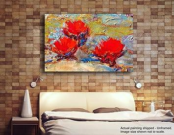 Tamatina Leinwand Malerei   Rote Rosen   Zusammenfassung   Moderne Kunst