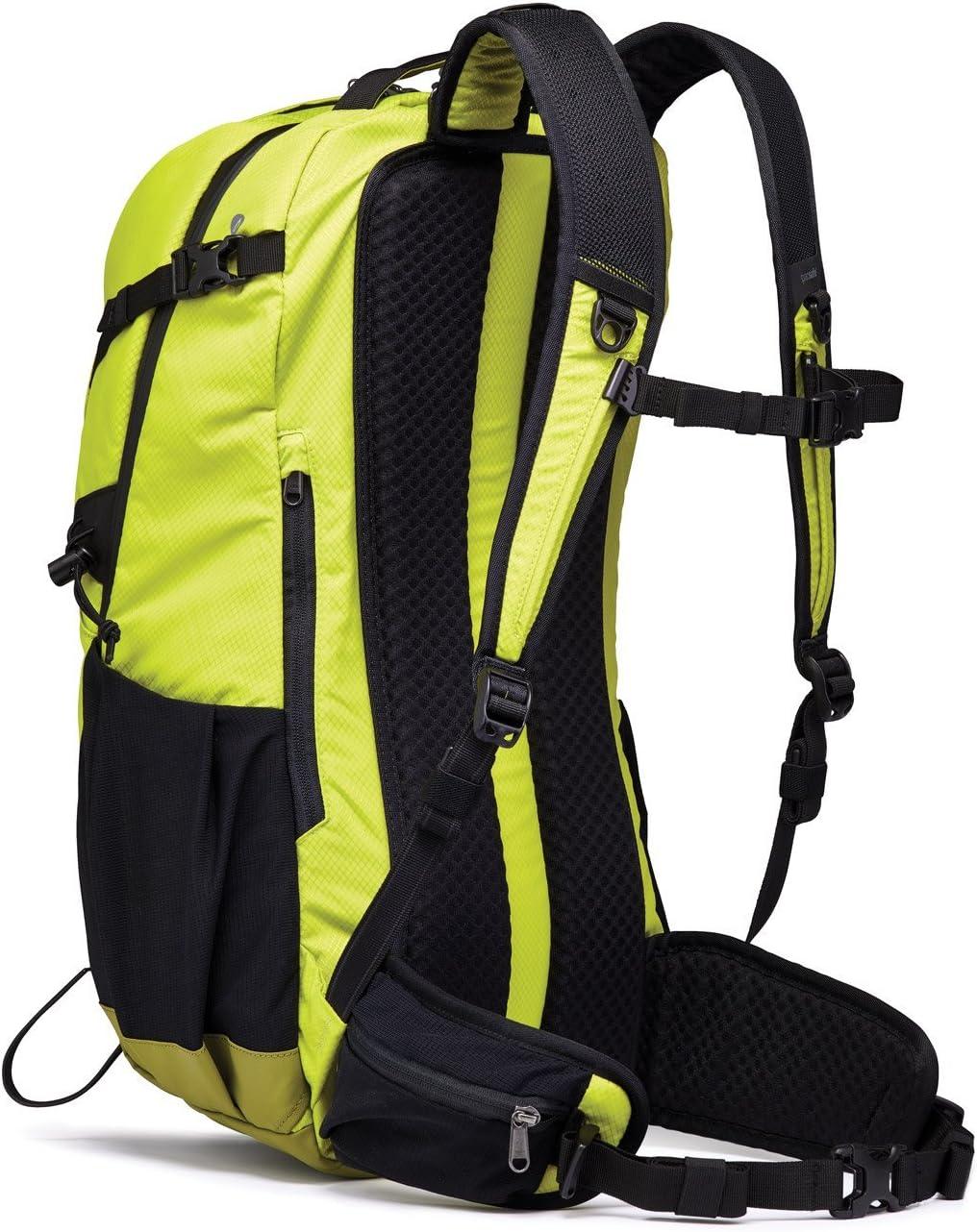 Pacsafe Venturesafe X34 Anti-Diebstahl Rucksack 34 Liter Trekkingrucksack mit Sicherheitstechnologie Wanderrucksack Phyton Gr/ün//Phyton Green