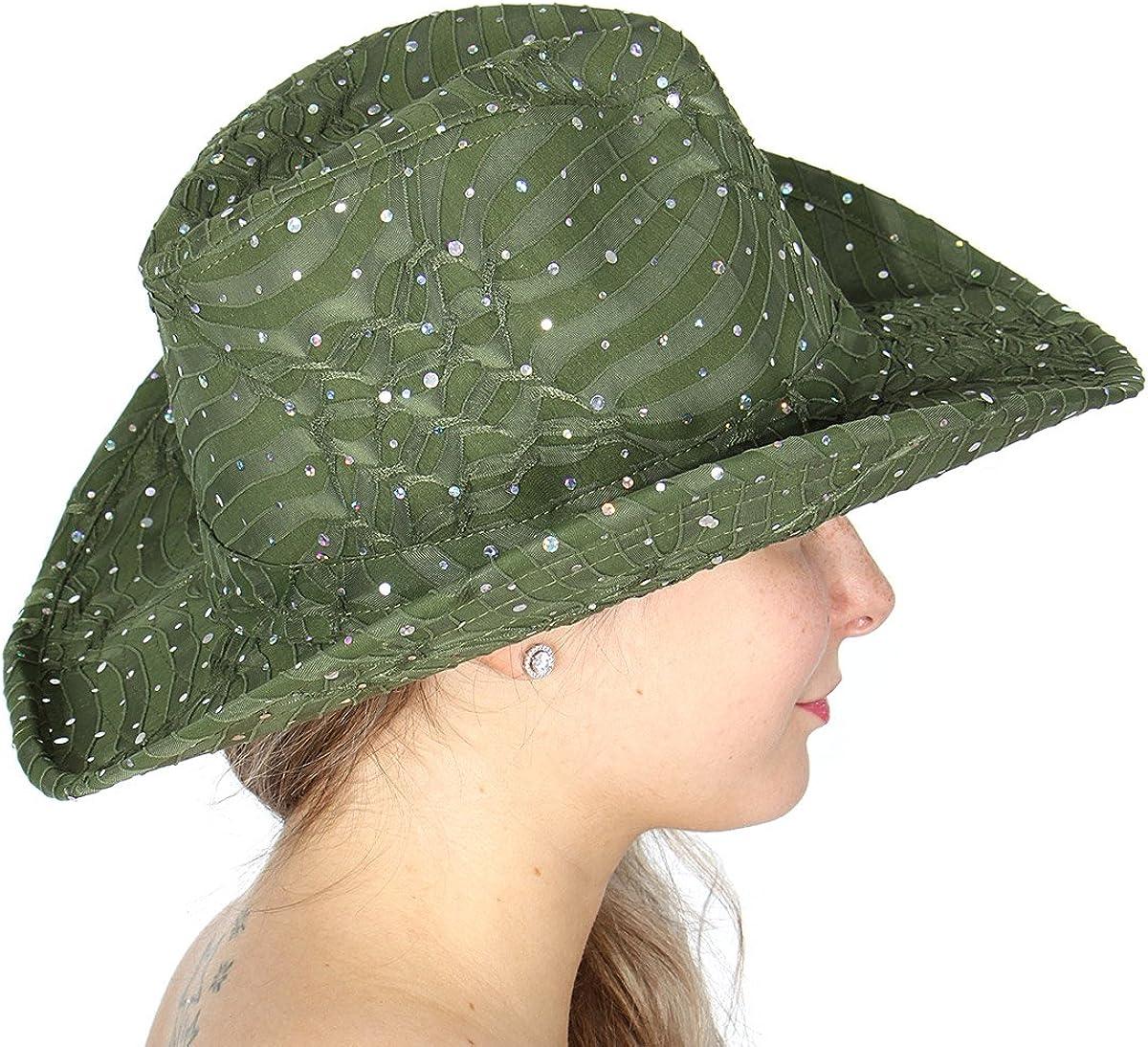 SERENITA Cowboy Hats for Women 1920s Panama Jazz Visor Gang Cowgirl hat Wide Brim Fedora Hat