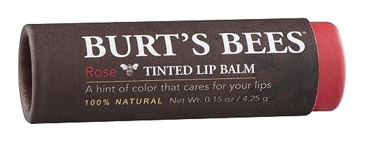 Burt s Bees Tinted Lip Balm, Rose 0.15 oz Pack of 3