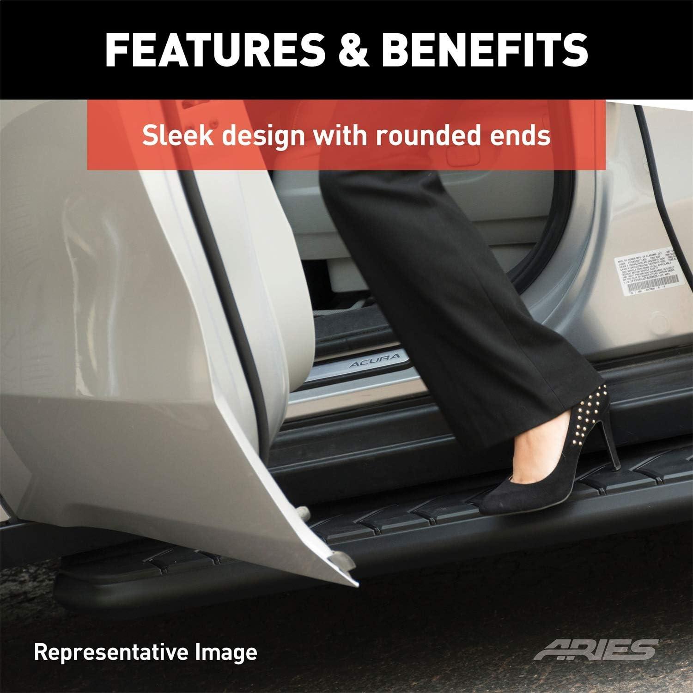 ARIES 2061029 AeroTread 70-Inch Black Stainless Steel SUV Running Boards Select Honda Pilot