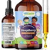 SleepBerry Liquid Melatonin for Kids - Natural Sleep Aid with Elderberry and Vitamin D - Boost Immune System While They Sleep