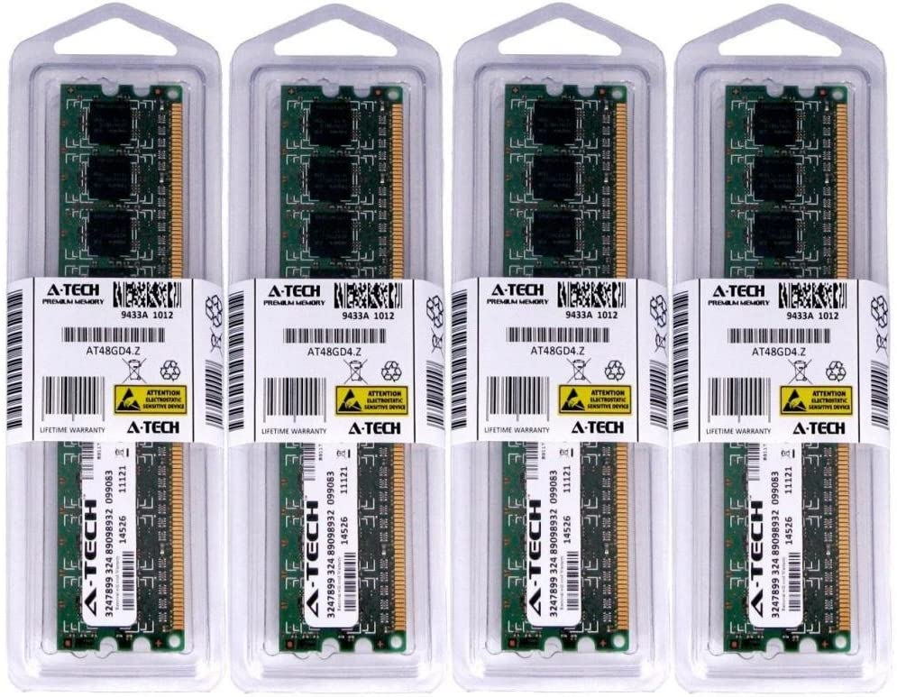 16GB KIT 4X 4GB for HP Compaq Desktop 6000 Pro Microtower/Small Form Factor 6005 Pro Microtower/Small Form Factor 6200 Microtower/Small Form Factor DIMM DDR3 Non-ECC PC3-10600 1333MHz RAM Memory