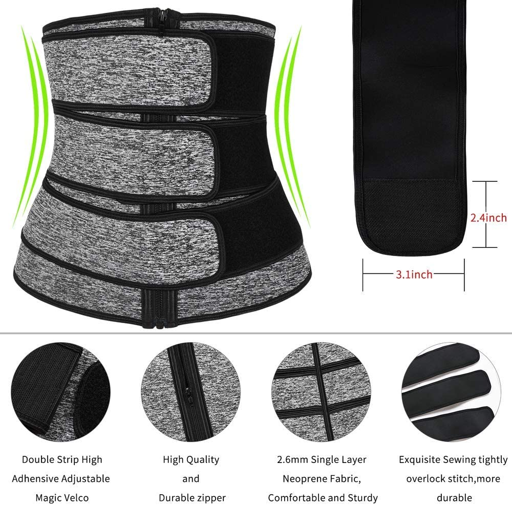 IMUZYN Waist Trainer for Women Weight Loss Body Shaper Workout Corsets Cincher Trimmer Shapewear Tummy Control Girdles