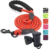 Ozpaw Dog Leash Long Reflective Lead for Small Medium and Large Dogs - Red