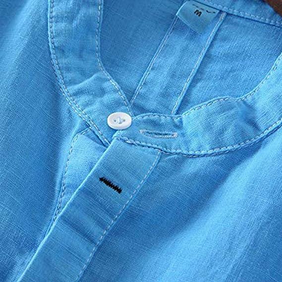 Camisa de algodón de Color Liso Ahumado a la Moda Camisa Elegante ...