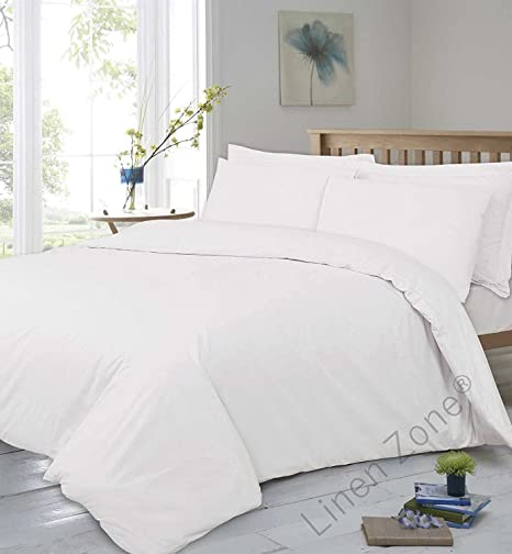 High Quality Linen Zone 400 Thread Egyptian Cotton 30CM/12 Inch Deep Fitted Bed Sheet,  Double