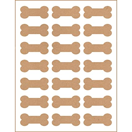 image about Bone Printable referred to as 105 Printable Canine Bone Labels, 2.4\