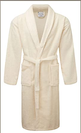 Rohi Mens   Womens Egyptian Collection Luxury Towelling Dressing Gown  Bathrobe - Shawl Collar (Cream 4b00b668b