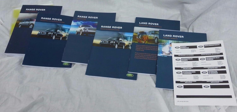 Amazon.com: EuroActive Land Rover Range Rover L322 2005 OEM Owner's Manual  English: Automotive