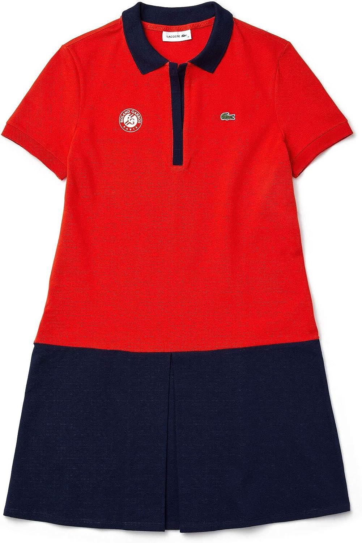 Edition Roland Garros Robe Polo Femme Sport en Coton Bicolore Lacoste
